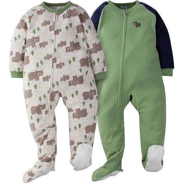 C1- Kit 2 Pijamas Macacões fleece Macacão