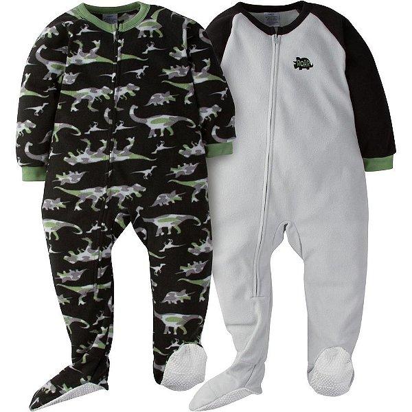 C1- Kit 2 Pijamas Macacões fleece
