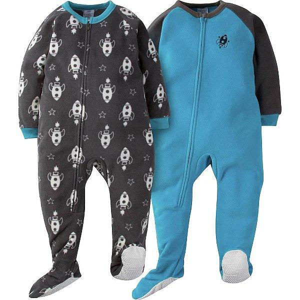 C1- Kit 2 Pijamas Macacões fleece Macacão inverno