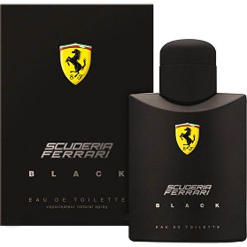 PERFUMES IMPORTADOS  ' ' FERRARI  BLACK ''   125 ML,  MASC.