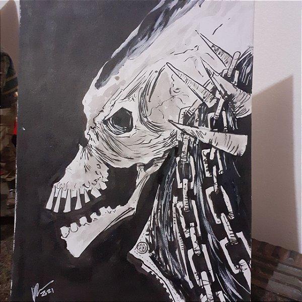 Motoqueiro Fantasma - Arte Original A5