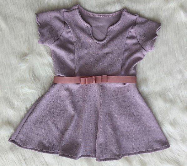 Vestido Crepe Rosa infantil