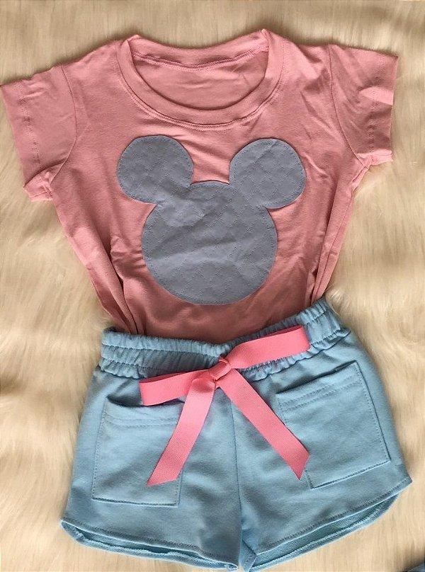 Conjunto Minnie Azul infantil