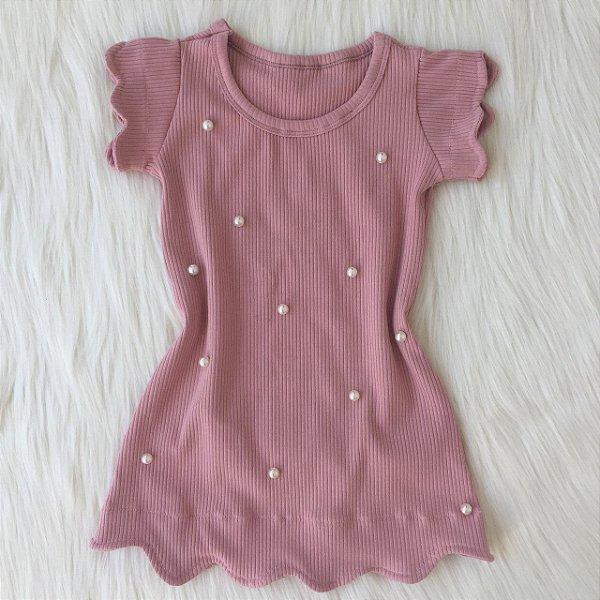 Vestido Rosê Nuvem Infantil
