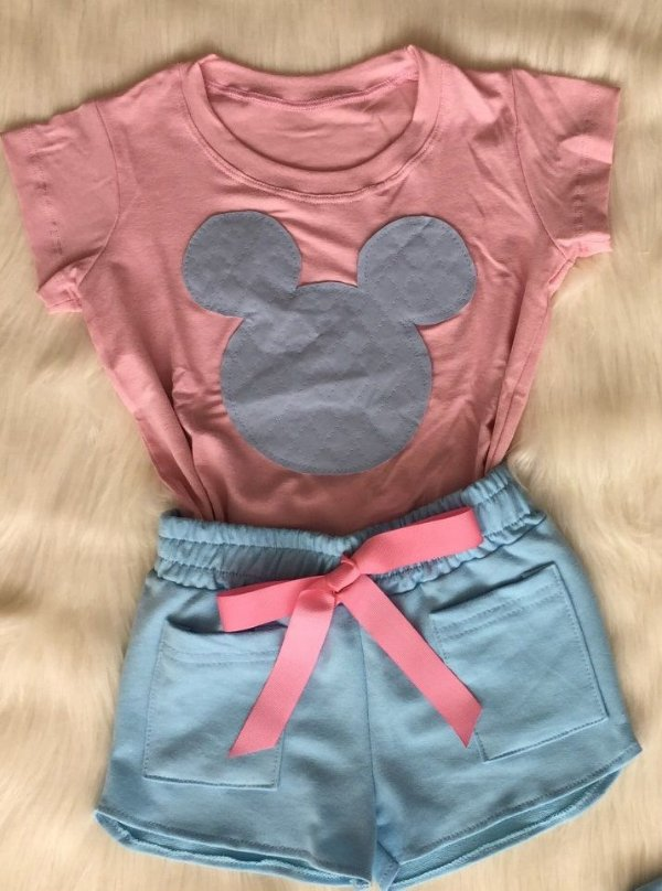 Conjunto Minnie Azul Adulto