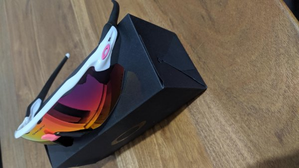 Óculos Ciclismo Radar Ev Advanced 5 lentes Branco/Rosa