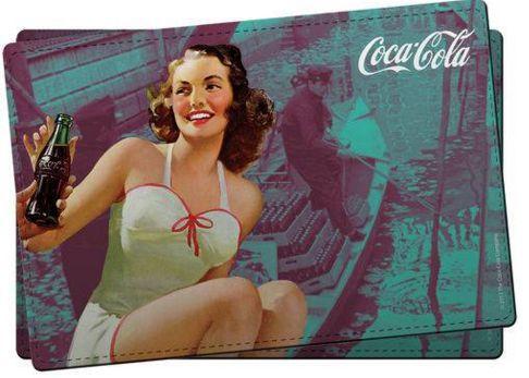 Jogo Americano Coca-Cola Pin-Up Girl - set com 2