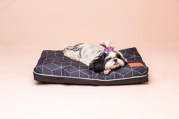 Almofada para Cachorro Mabuu Pet - Linhas Geométricas Preta