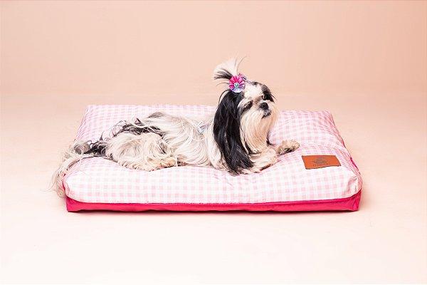 Almofada para Cachorro Mabuu Pet - Vichy Rosa