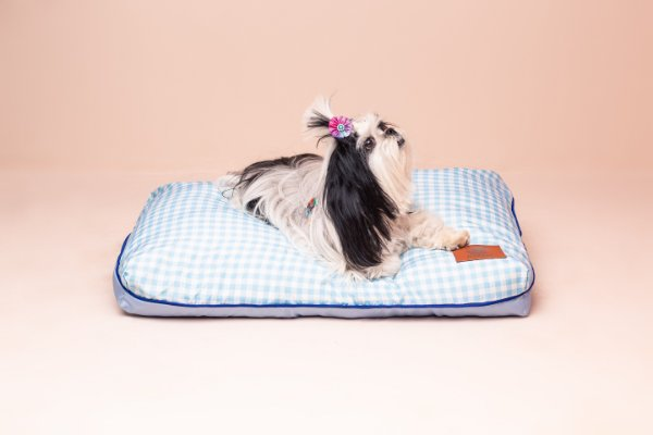 Almofada para Cachorro Mabuu Pet - Vichy Azul