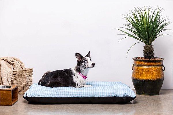 Colchonete para Cachorro Mabuu - Vichy Azul