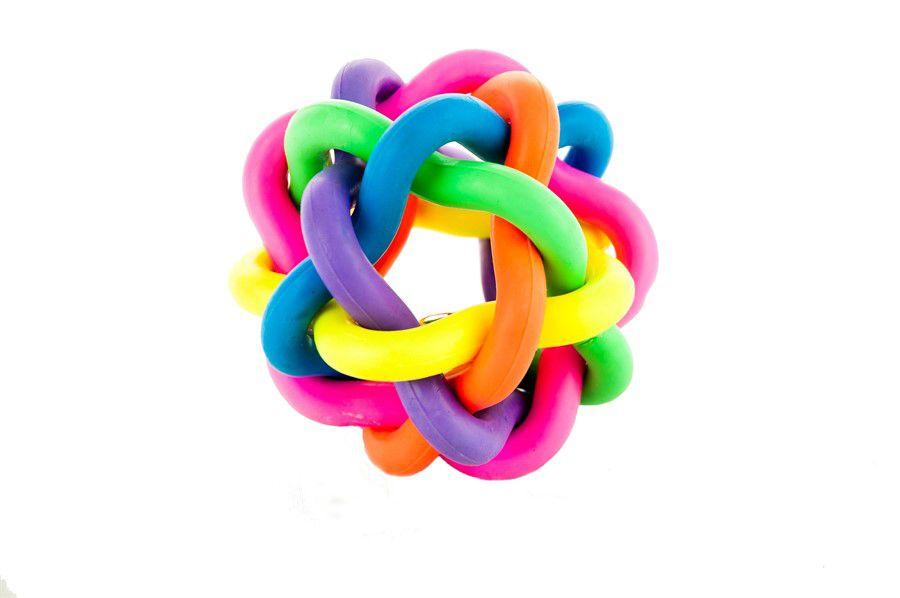 Brinquedo Bola Multicolor G com Sino