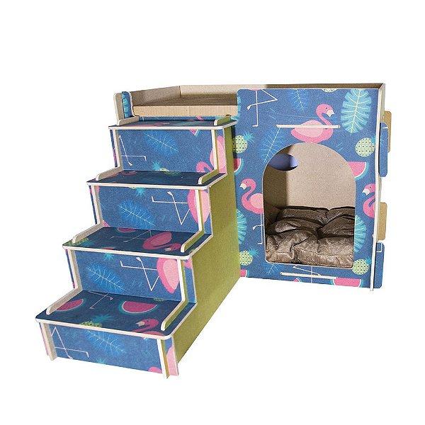 Toca para Gatos com Escada - Flamingo