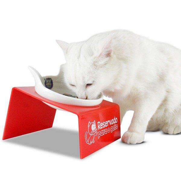Comedouro para Gatos Snack Cat - Vermelho