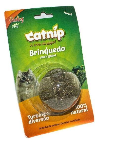 Brinquedo Bolinha de Catnip - Erva dos Gatos Desidratada