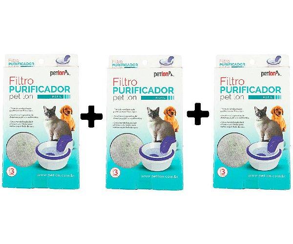 Combo Filtro para Fonte Bebedouro - Petlon - 3 unidades