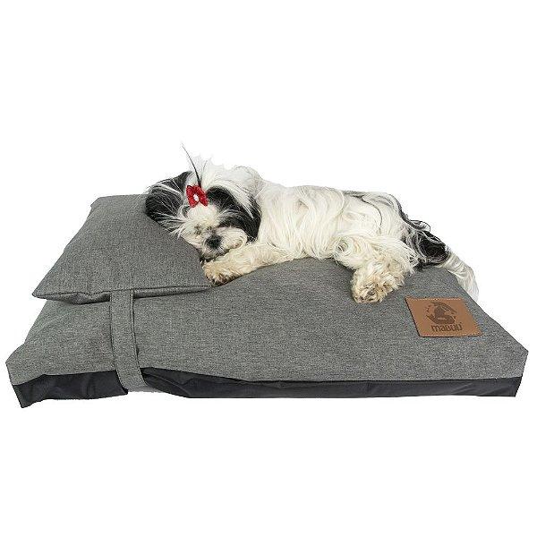 Almofada com Travesseiro para Cachorro Mabuu Pet - Cinza