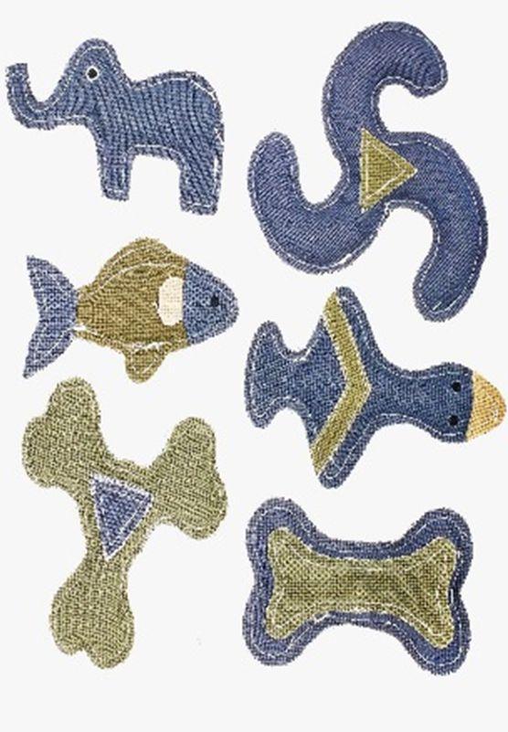 Kit Brinquedos de Lona para Cães