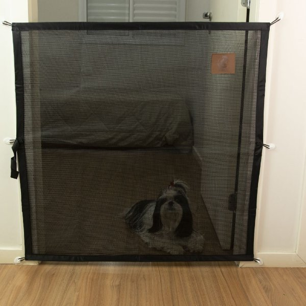 Proteção Para Portas - Tela - Mabuu Pet - 90 cm x 90 cm - Preta