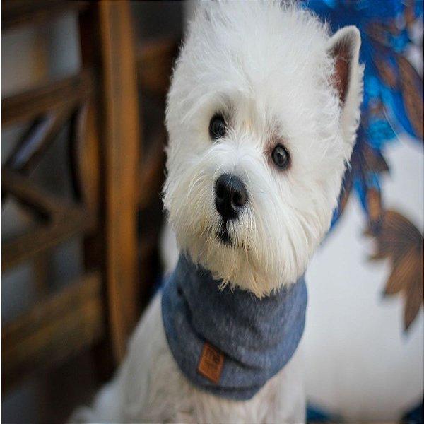 Cachecol para Cães e Gatos Tubo - Azul - Tamanho M