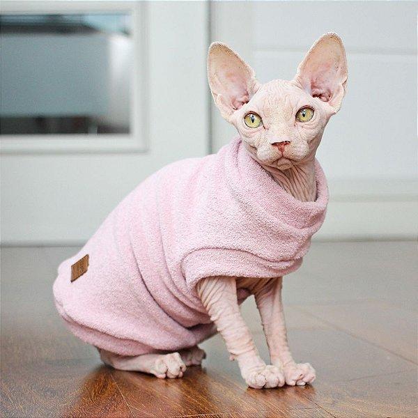 Roupa para Gato Soft Cat Glacê - Rosa - Tamanho G