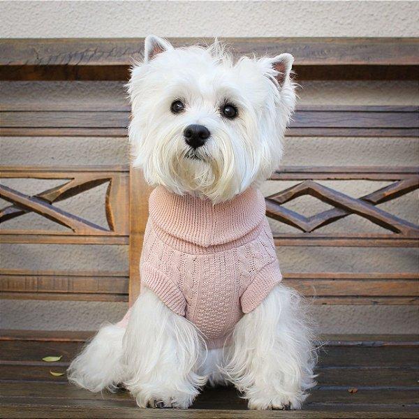 Roupinha para Cachorro Tricô Classic - Rosa - G