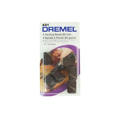 "DREMEL TUBOS LIXA 431 GR60 1/4"" (6 UNIDADES)"