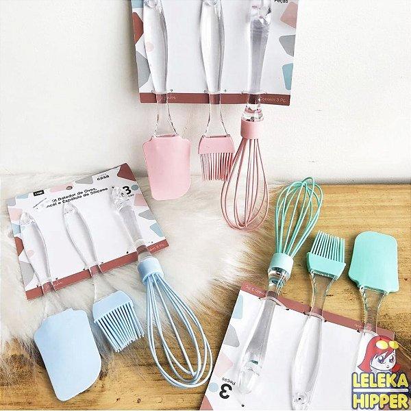 Kit de utensílios em silicone candy