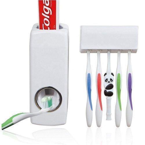 Dispenser de Pasta e Escova de Dentes