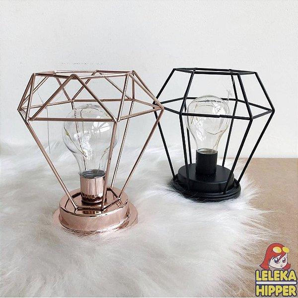 Luminária geométrica com led - individual