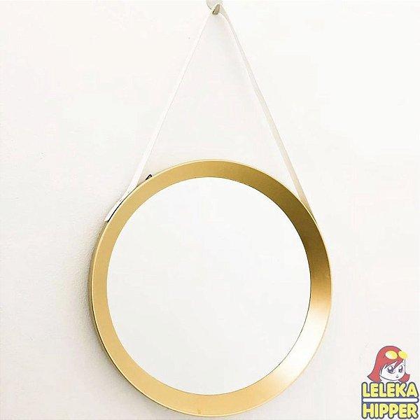 Espelho Adnet com alça de couro