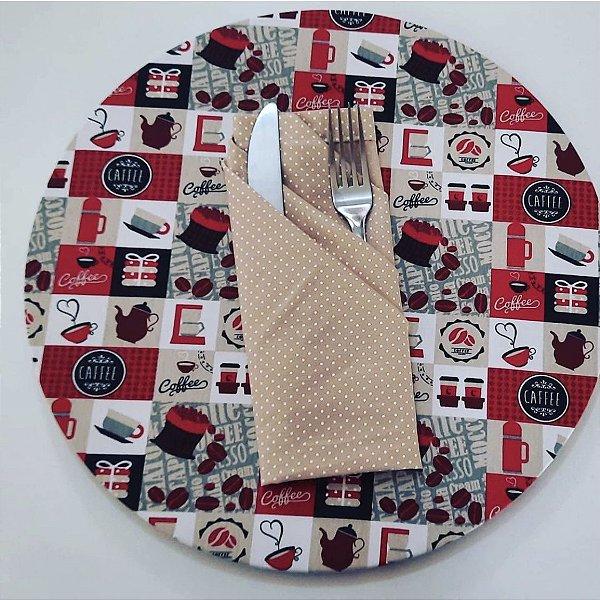 Kit mesa posta com sousplat e guardanapo de tecido