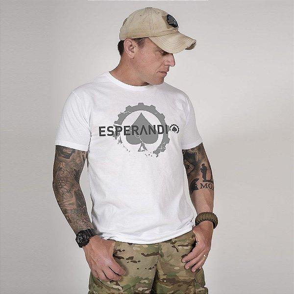 Camiseta de Algodão Estonada Branca Esperandio Concept