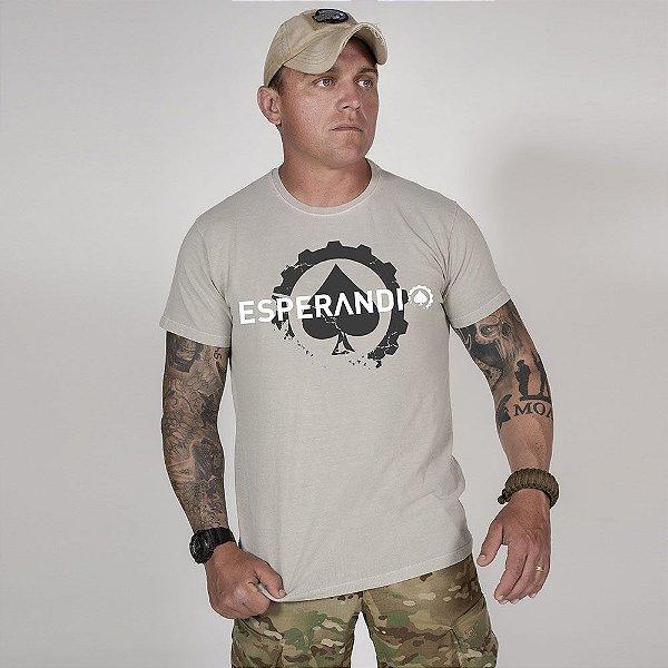 Camiseta de Algodão Estonada Cinza Esperandio Concept