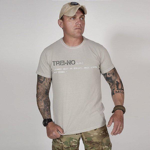 Camiseta de Algodão Estonada Cinza  Training Concept