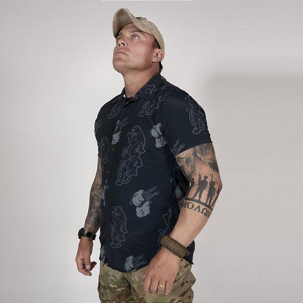 Camisa de Botão Unissex Night Ops