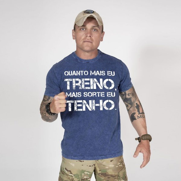 Camiseta de Algodão Estonada Marinho Sky Train And Lucky