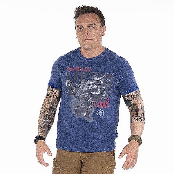 Camiseta de Algodão Estonada Sky Marinho Esperandio VCQB®️