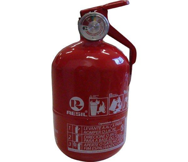 """Extintor R986 - P1 Abc 4"""" Res986 Po Abc P1 4"""" ( Barrigudo - Modelo Fiat) C Válvula Metal 090Kg 5 Anos"""