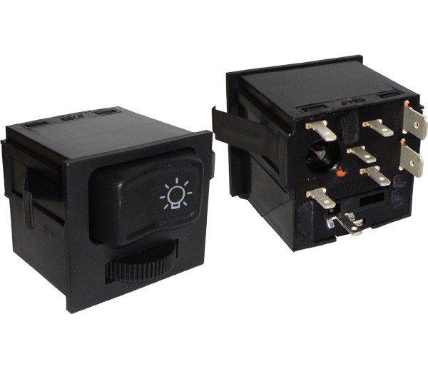 Interruptor Luz C Reostato Vw Parati Saveiro Gol 03847218