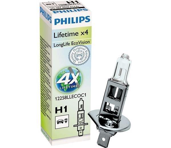 Lâmpada H1 12V 6055W  Longlife Ecovision  4X Mais Durabilidade