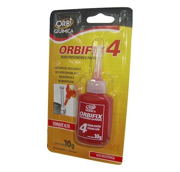 Orbifix4 Trava Prisioneiro 10G  Vermelho  Orbifix4 Trava Rosca  Parafusos  Prisioneiros
