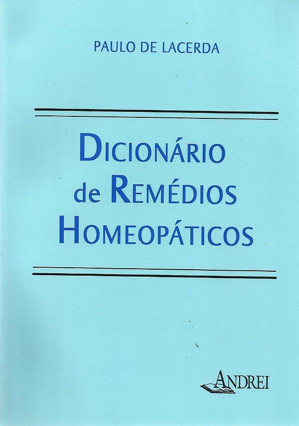 DICIONÁRIO DE REMÉDIOS HOMEOPÁTICOS