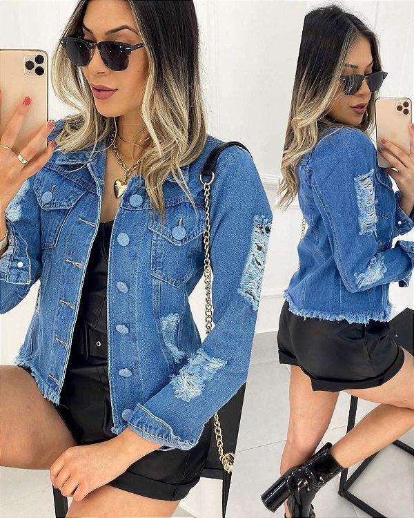 Jaqueta Jeans Buttons