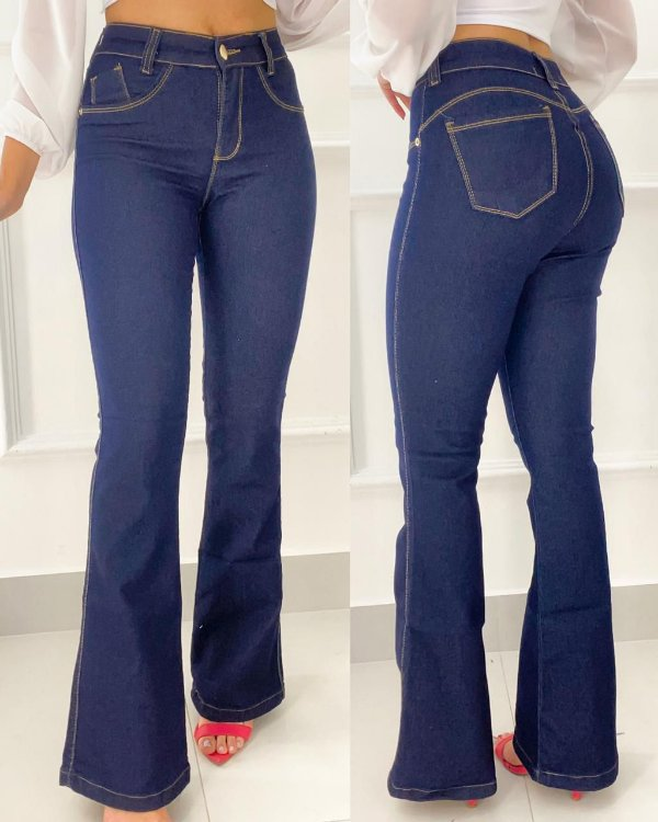 Calça Jeans Tradicional Flare