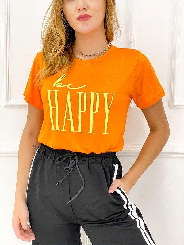 T-Shirt Viscolaicra Be Happy