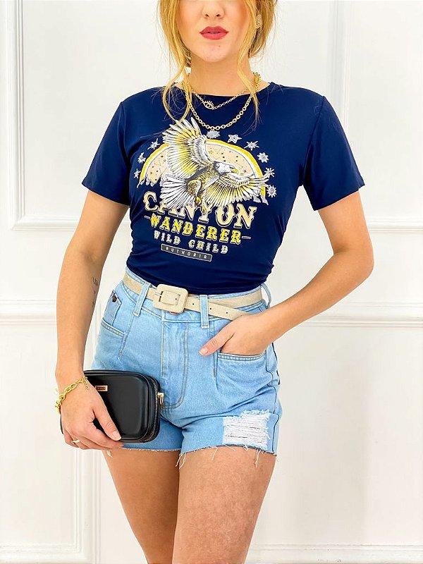 T-Shirt Viscolaicra Águia