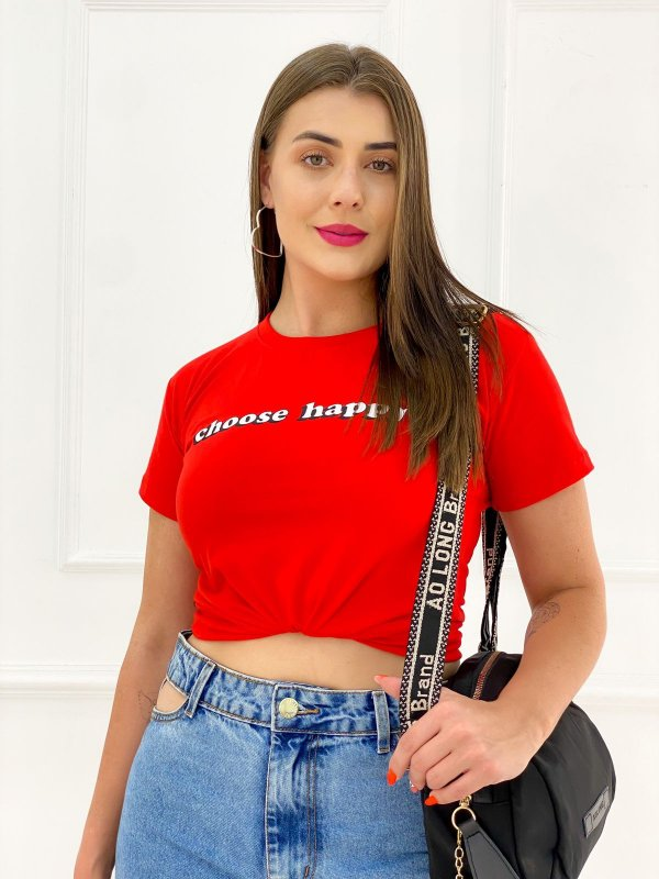 T-Shirt Estampas Choose Happy