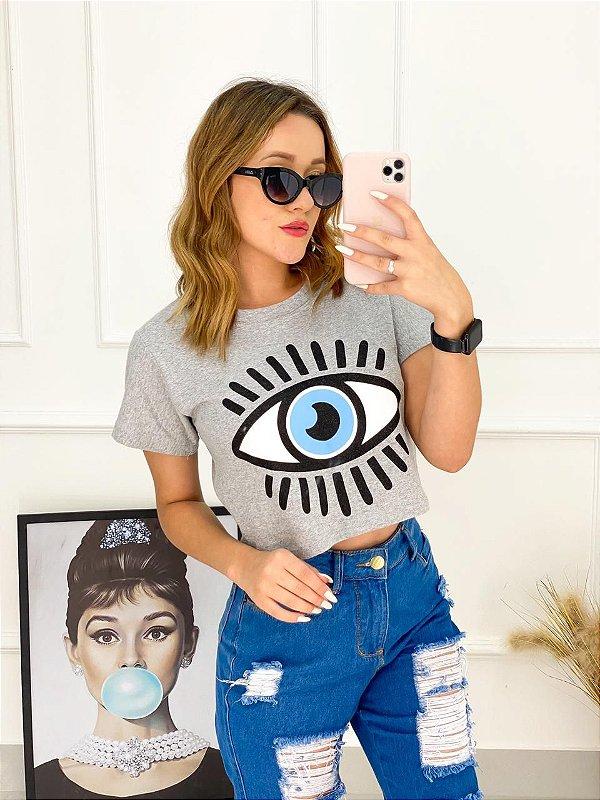 T-Shirt Cropped Olho