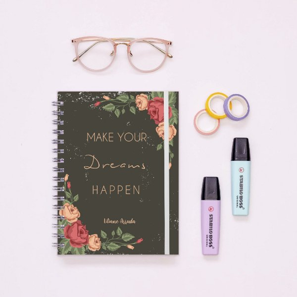 Caderno - Make your dreams